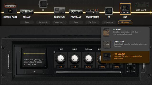 アンプシミュレーター内IR Loaderのイメージ(BIAS AMP)