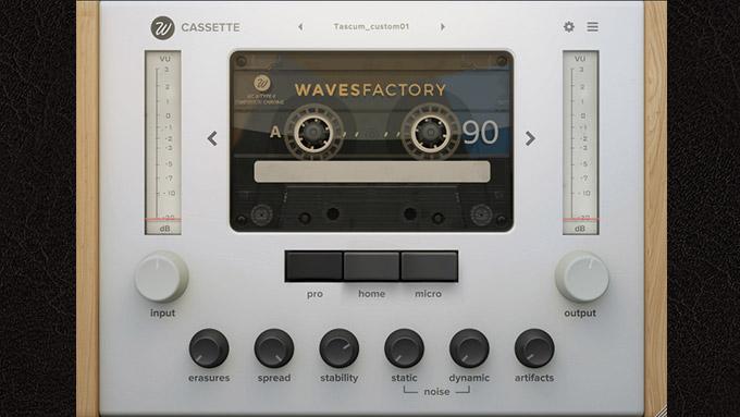 カセットテープシミュレーター!Wavesfactory Cassette