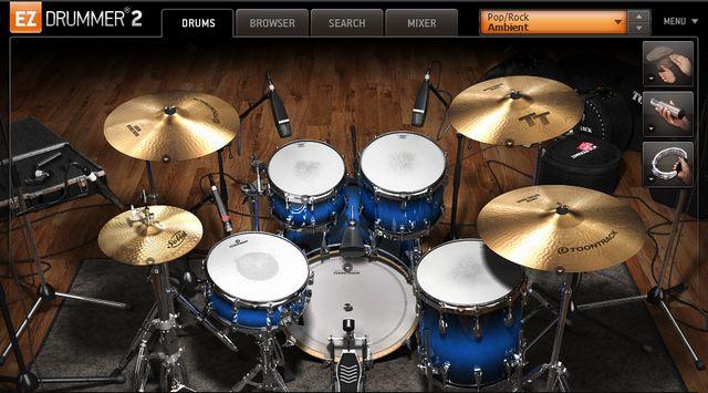 EZ Drummerの画面