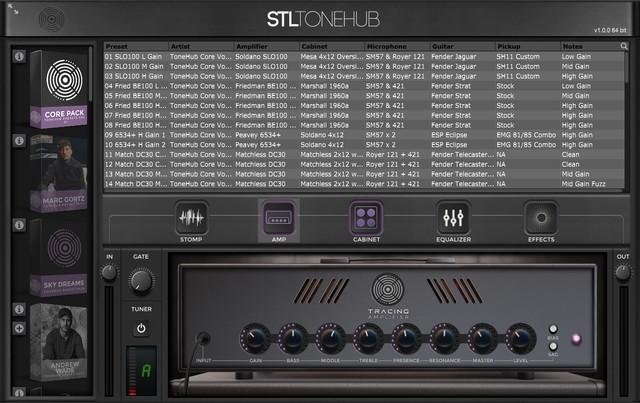 STL ToneHubの画面