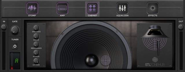 STL ToneHubのCabinet画面