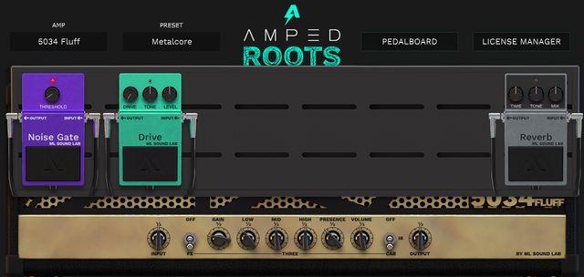 amped roots freeのペダルボード