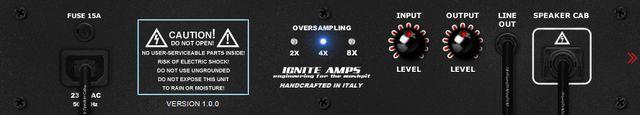 Ignite Amps SHB-1のバックパネル