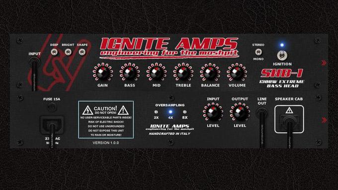 【無料ベースアンプシミュレーター】Ignite Amps SHB-1 レビュー