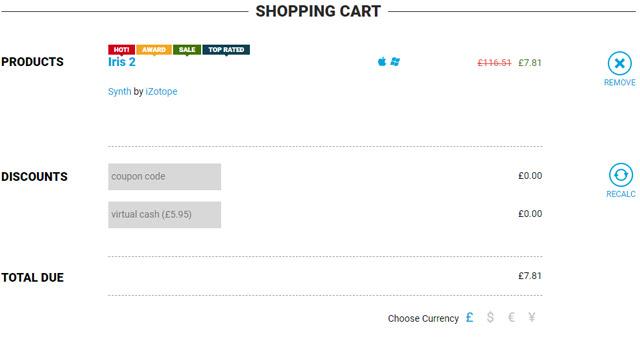 Plugin Boutiqueのカート画面1