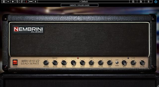 Nembrini Audio MRH810-V2のアンプ画面