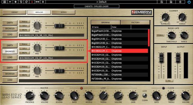 Nembrini Audio MRH810-V2のIRローダー画面