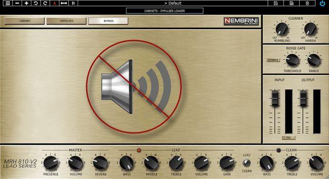 Nembrini Audio MRH810-V2のキャビネットバイパス画面