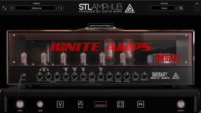 STL AmpHubのアンプ画面