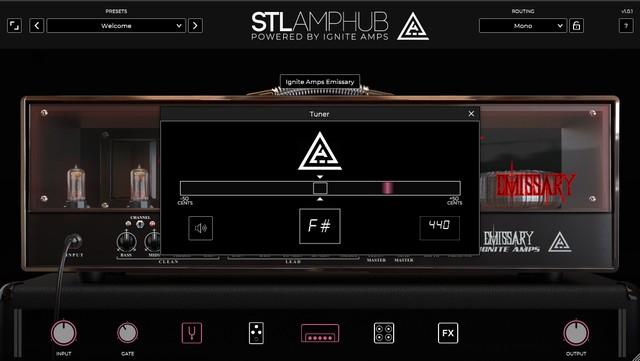 STL AmpHubのチューナー