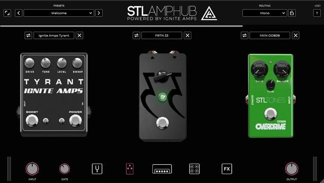STL AmpHubのストンプ画面
