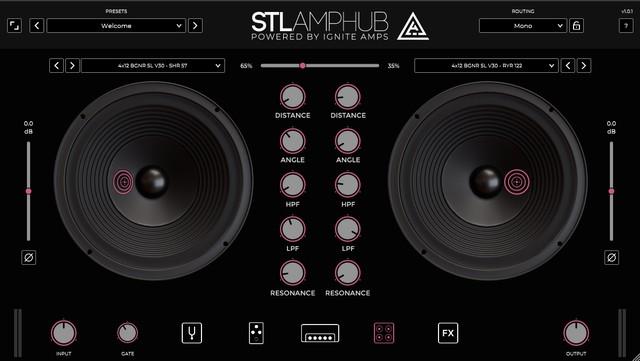 STL AmpHubのキャビネット画面