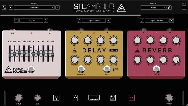 STL AmpHubのFX画面